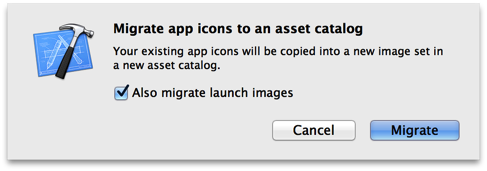 Migrating Icons and Launch Images into an Asset Catalog
