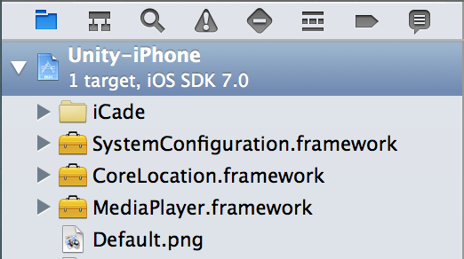 Selecting Project Settings in Xcode's Navigator